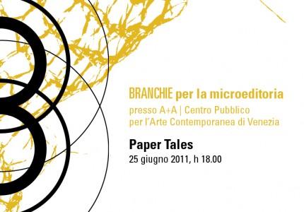 In arrivo BRANCHIE per la microeditoria | Paper Tales