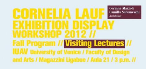 Visiting Lecture | Cornelia Lauf Exhibition Display Workshop