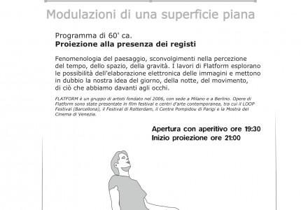 Kino³: FLATFORM - MODULAZIONI DI UNA SUPERFICIE PIANA