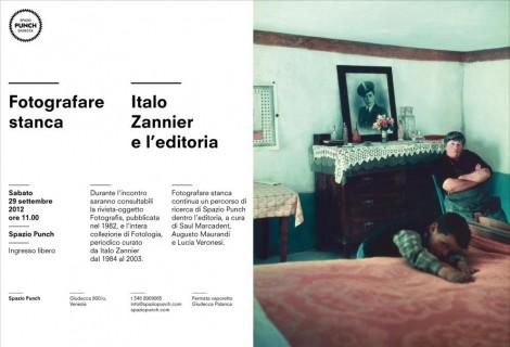 Fotografare stanca | Italo Zannier a Spazio Punch