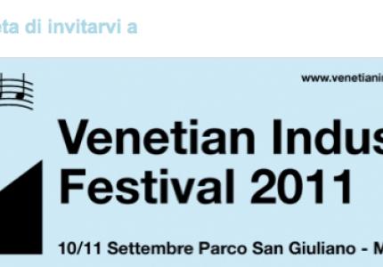 Meno 5 al Venetian Industries Festival!