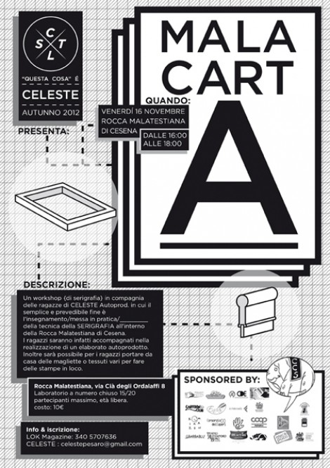 MALACARTA, workshop di serigrafia