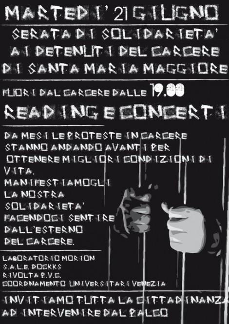 Note per la Dignità. Serata di solidarietà per i detenuti del carcere di Santa Maria Maggiore