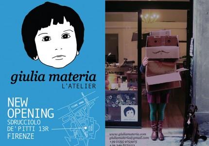 New opening: l'atelier di Giulia Materia
