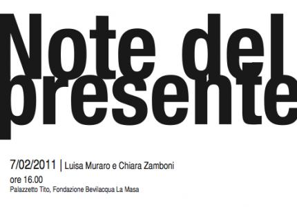 Note Del Presente - Ciclo di incontri a Palazzetto Tito