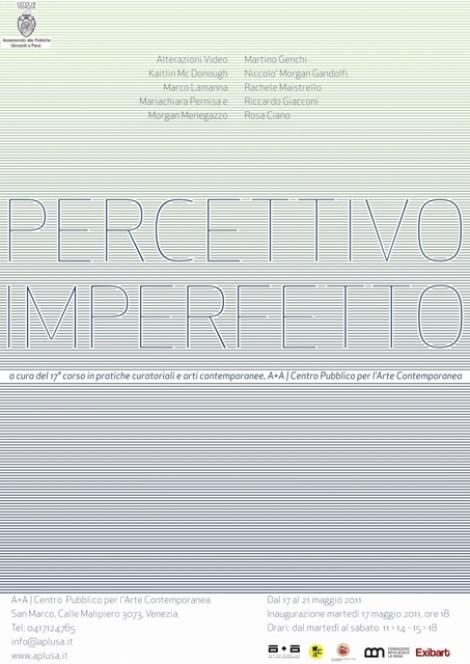 Percettivo Imperfetto alla Galleria A+A