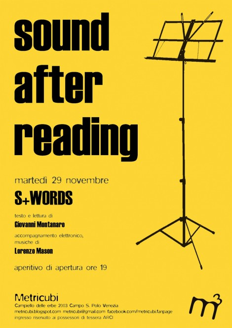 S+Words: Sound after reading a Metricubi